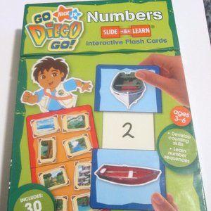 Go Diego Go! Nick Jr Number Flash Cards Pre-K NWOT